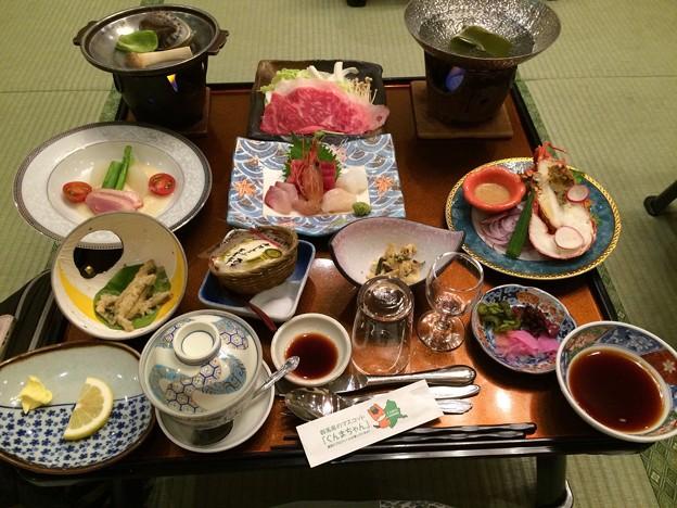 伊香保温泉の夕食