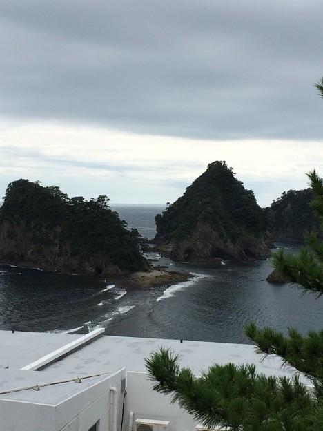 三四郎島の陸繋トンボロ