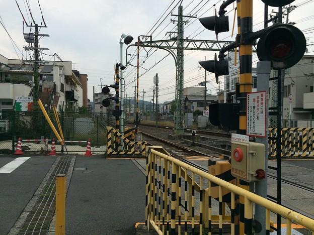 三室戸寺駅前から京阪宇治駅方面を望む