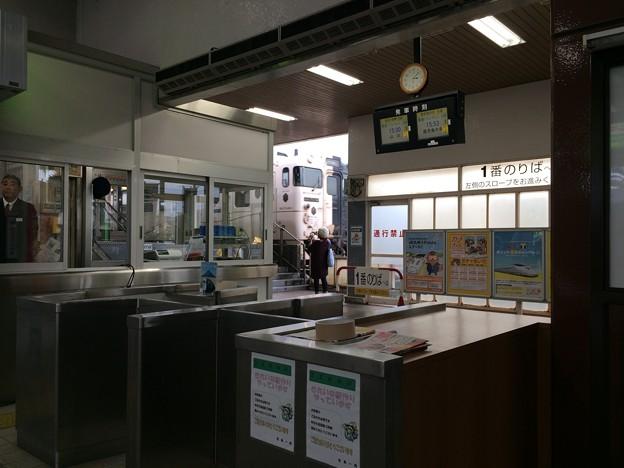 指宿駅を出発する、いぶたま