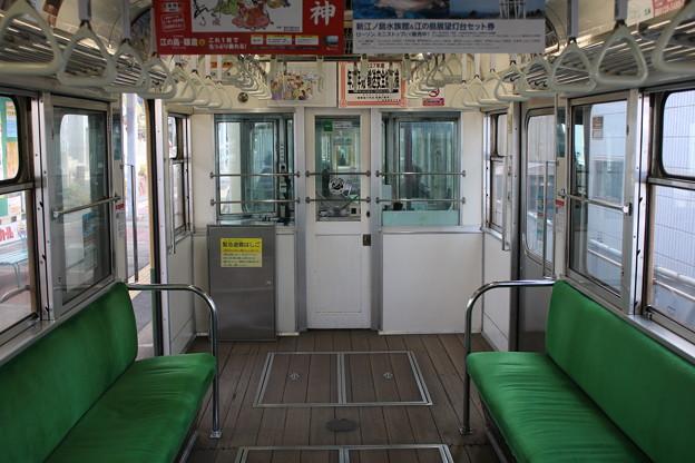 江ノ電300形 305Fの車内