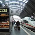 写真: フランクフルト中央駅にて