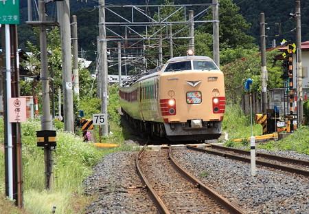 485系仙山線さくらんぼ号楯山駅3