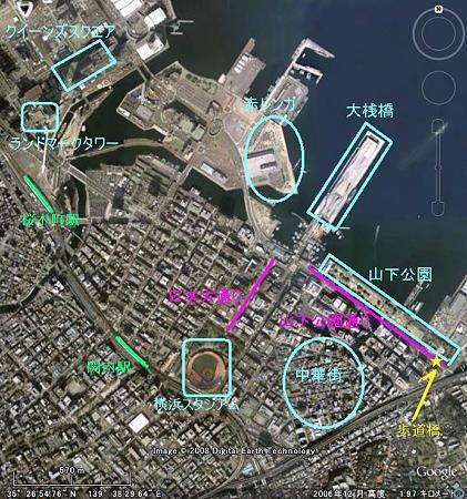関内から港周辺