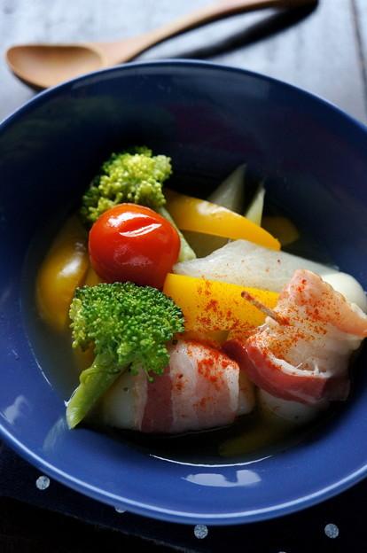 写真: 残り野菜で♪お餅入り洋風スープ