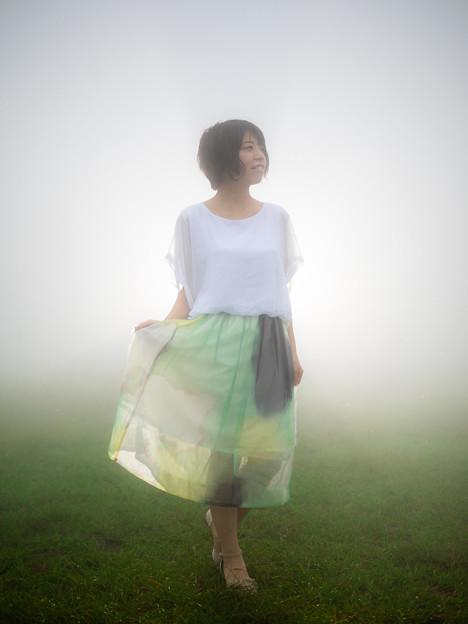 写真: 霧と光と