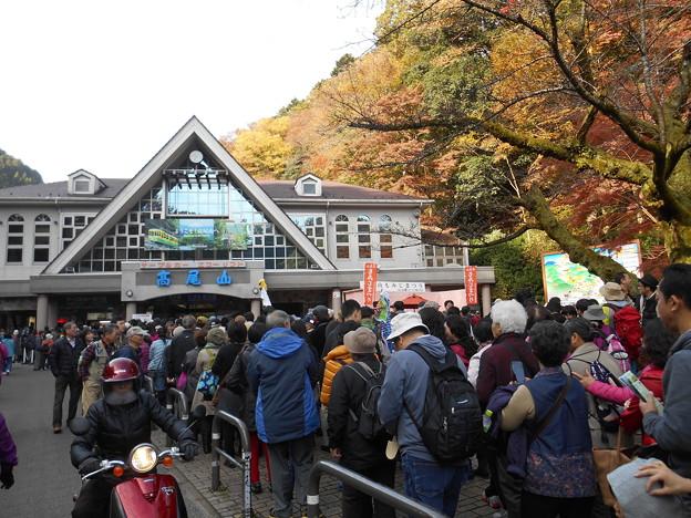 高尾山ケーブルカー乗り場1時間待ち2015.11.21