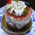 花時計のケーキ
