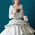 写真: 紙粘土人形マーガレット上半身