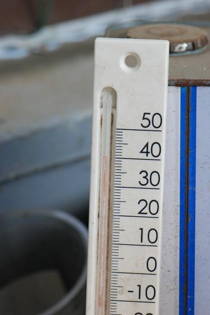 寒暖計40度超え