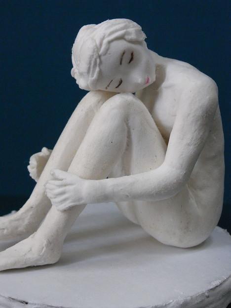 紙粘土人形裸婦1縦