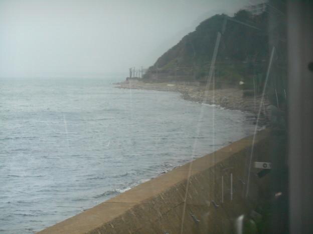 海岸線を通る小樽付近の鉄道
