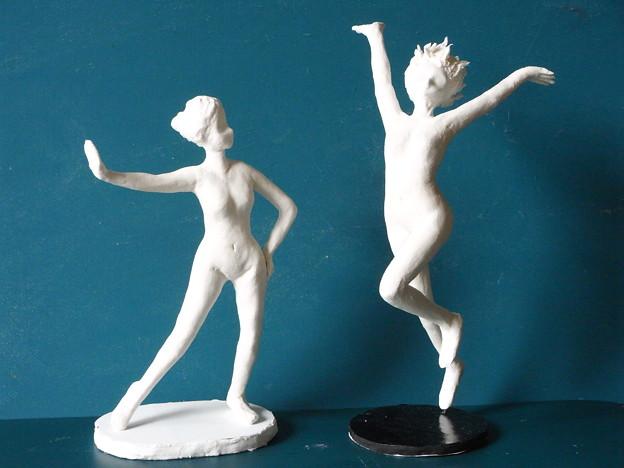 紙粘土裸婦6,7