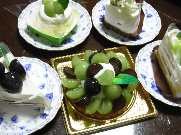 ブドウのケーキ5種