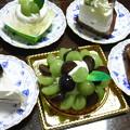 写真: ブドウのケーキ5種