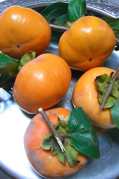 柿の収穫5個