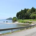 穴水町沖波から見る海1