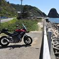 バイクと日本海
