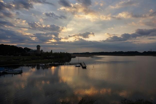 Photos: 手賀沼の朝焼け