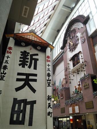 16_新天町のまだ建設中の飾り山140624