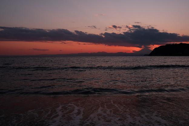 Photos: 逗子海岸からの夕焼け