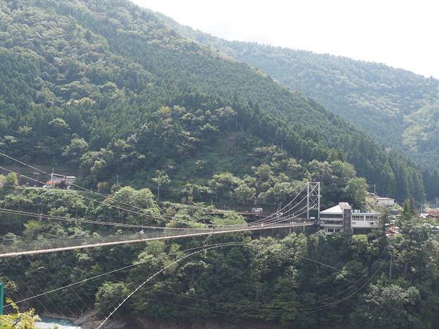 谷瀬のつり橋・対岸より