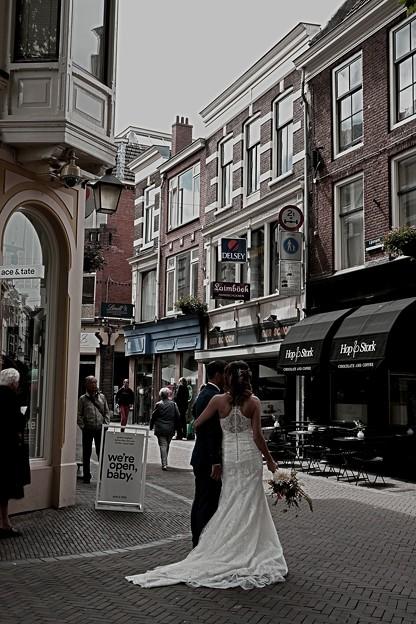 オランダのウェディングカップル