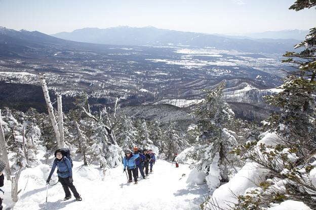 日本の山 雪山講習会S1 蓼科山 催行の登山日和です