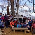 ▲高水山の山頂で。 初級者講習会もにぎわってまいりました。 #山へ行こうよ。 #アルパインツアー日本の山 #高水三山