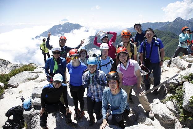 日本の山 甲斐駒ヶ岳 甲斐駒ヶ岳山頂到着!富士山と一緒に #山へ行こうよ。