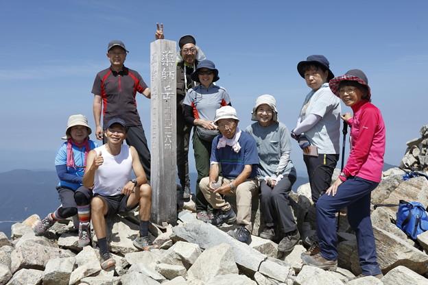 日本の山 山の天気講座 薬師岳 薬師岳山頂です!