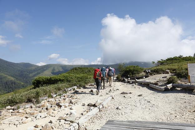 日本の山 山の天気講座 薬師岳 三角点を超えて