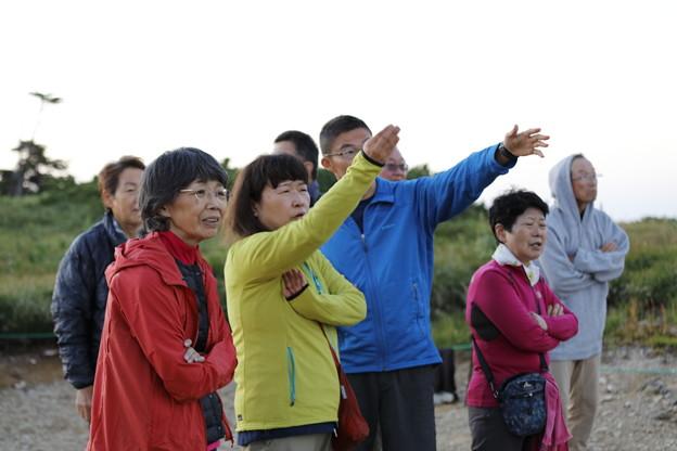 日本の山 山の天気講座 薬師岳 日の入りを見ながら