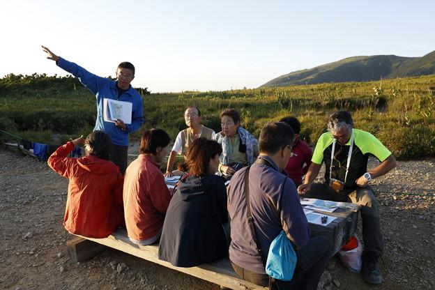 日本の山 山の天気講座 薬師岳 夕方の天気講習会