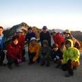写真: 燕岳から常念岳 朝日の燕岳と!