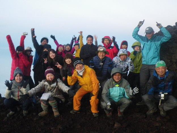 東北の高校生の富士登山2019応援登山 24日の日の出