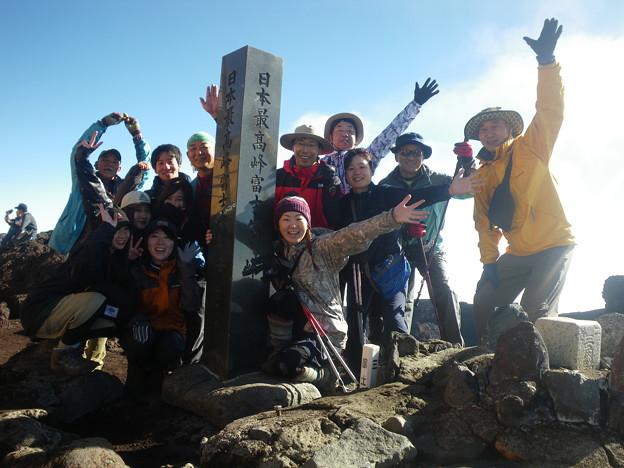 東北の高校生の富士登山2019応援登山 剣が峰登頂!