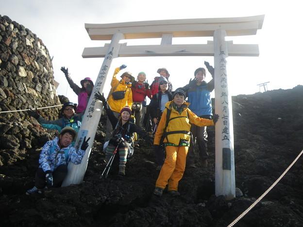 東北の高校生の富士登山2019応援登山 頂上到着!
