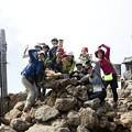 日本の山 石井登山学校 テント泊赤岳 赤岳山頂デース!