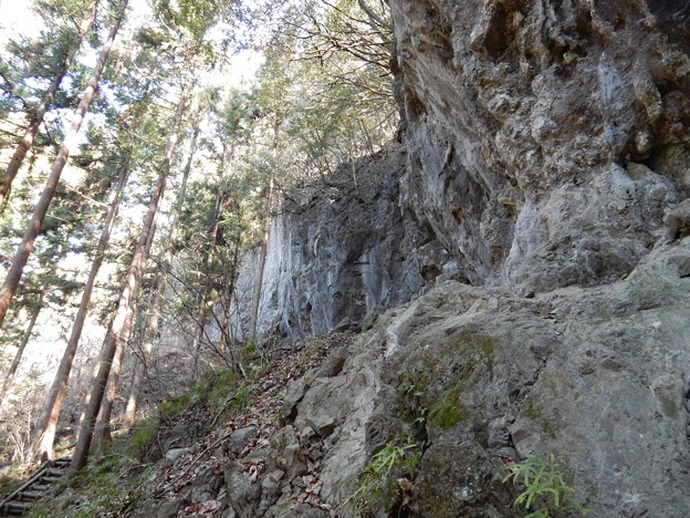 河又の岩場