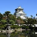 写真: 大阪城と日本庭園