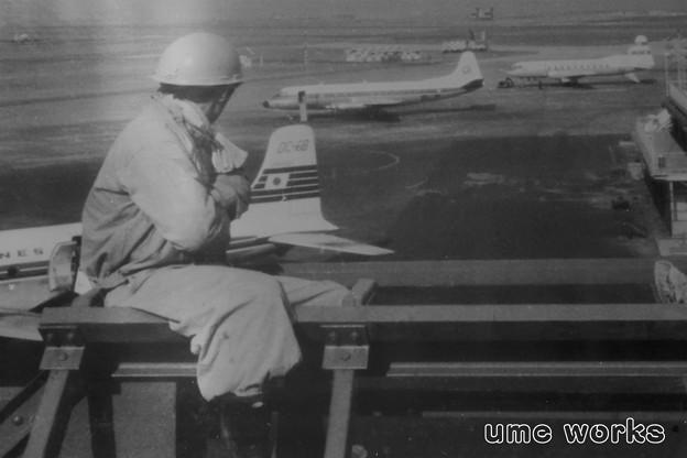 写真: 昔の羽田空港