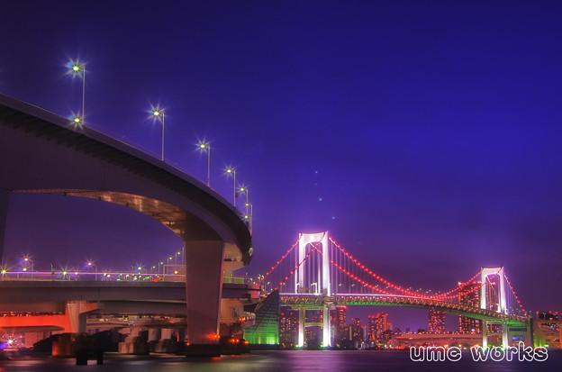 写真: 東京夜景 レインボーブリッジB