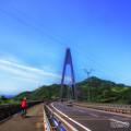 写真: しまなみ街道を走る@生口橋