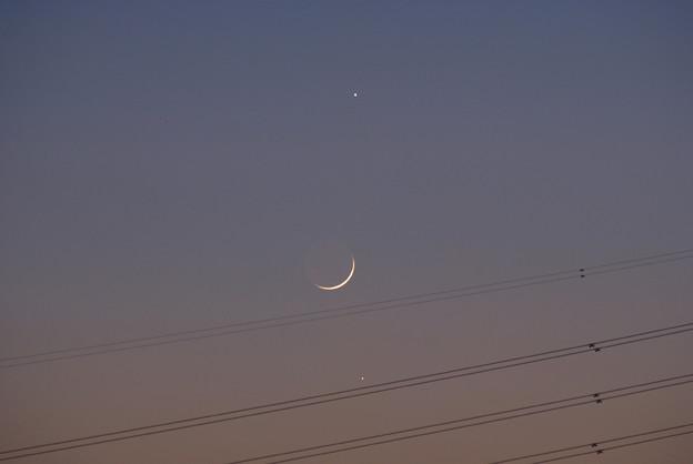 木星、月、水星 17:17 2008/12/29
