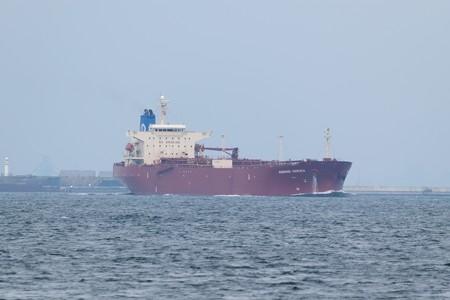 1)183m MORNING HARUKA(35mm換算750mm)南航船 第二海堡方面