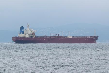 1)183m MORNING HARUKA(35mm換算390mm)南航船 富津湊川河口方面