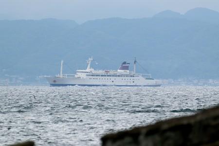 4)131m おがさわら丸(35mm換算750mm)北航船 金谷方面