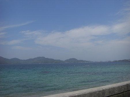 いきなり海が見えた