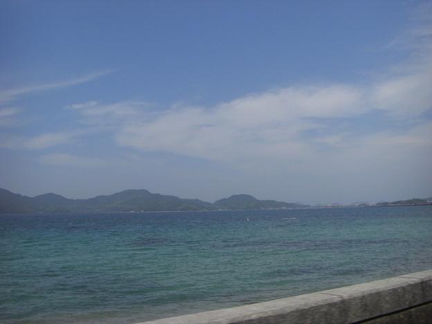 写真: いきなり海が見えた